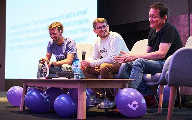 Botify co-founders Adrien Menard, Thomas Grange, and Stan Chauvin
